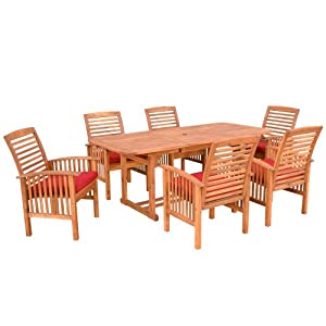 Sale we furniture 7 piece acacia wood dining set reviews for Furniture 7 reviews