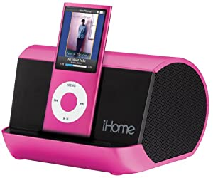 iHome iHM9 Portable Stereo System for iPod, iPhone, and MP3 Players (Pink)