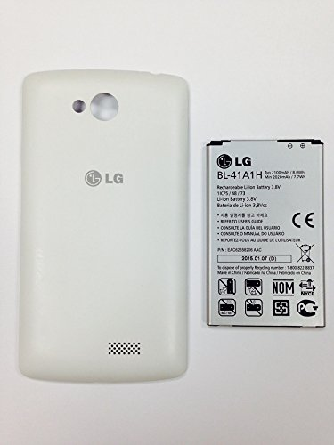 New OEM LG BL-41A1H Optimus F60 Battery and Battery Door Cover Set Metro PCS o4l (Battery Lg Optimus V compare prices)