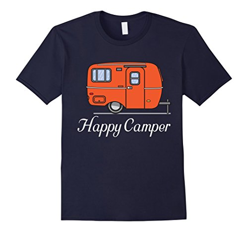 Men's Happy Camper - Campfire T Shirt Medium Navy
