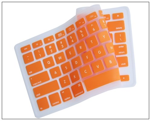 Generic Orange Keyboard Silicone Cover Skin For Macbook/Macbook Pro 13-Inch, 15-Inch, 17-Inch Aluminum Unibody (Kbc-Mp-Orange)