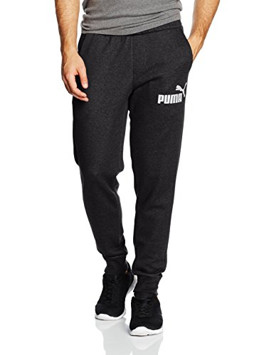 Puma Ess No. 1 Sweat Fl Cl Pantalone Sportivo - Grigio (Dark Gray Heather) - L