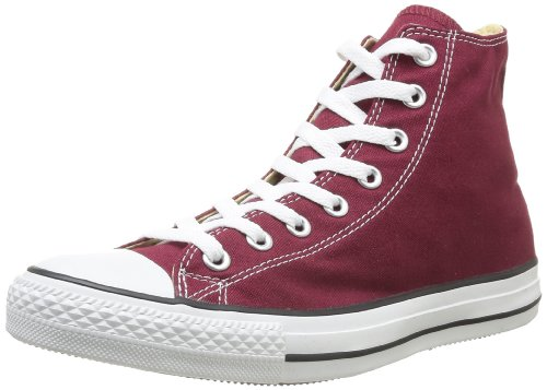 Converse All Star Hi Canvas Sneaker, Unisex Adulto, Rosso (Bordeaux), 39