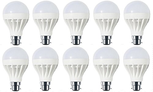 Sunbeam-3W-B22-LED-bulb-(White,-Set-of-10)