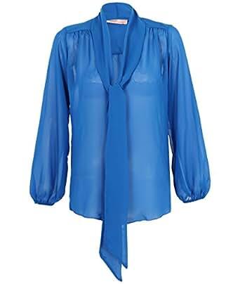 KRISP® Chemisier drapé 9522 [Bleu Roi,36]