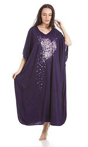 donnas-pigiameria-scatter-multi-coloured-cuore-kaftan-un-formato-di-stampa-viola