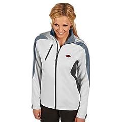 Arkansas Ladies Discover Jacket (White) by Antigua