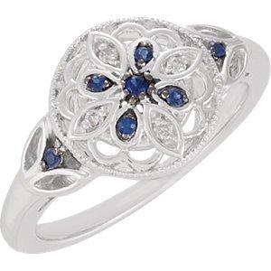 Genuine IceCarats Designer Jewelry Gift Sterling Silver 00.03 Ct Tw Ring. 00.03 Ct Tw Ring In Sterling Silver Size 5