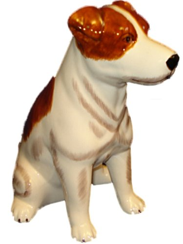 Hand Painted Ceramic Jack Russell Terrier Dog Bank - 1