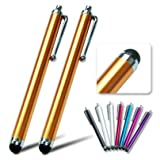 2xFirst2savvv golden Touch screen stylus pen for TOSHIBA Excite Pure 10.1