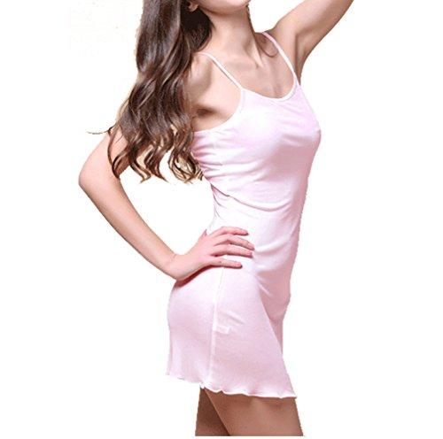 シルク スリップ トリコットシルク 100% インナー キャミソール レディース シンプル ベーシック 選べるサイズ・カラー (L, ピンク)
