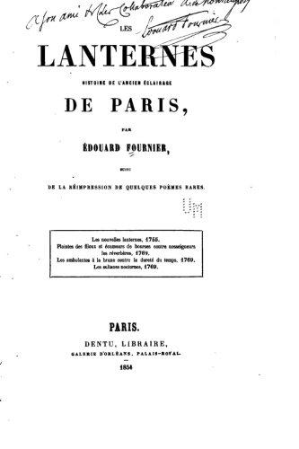 Les lanternes, histoire de l'ancien  PDF