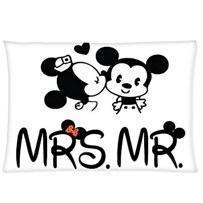 A Couple in Love - Mr. & Mrs. Custom Zippered Pillowcase Pillow Cases Cover 20 X 30 Inch (Twin Sides)