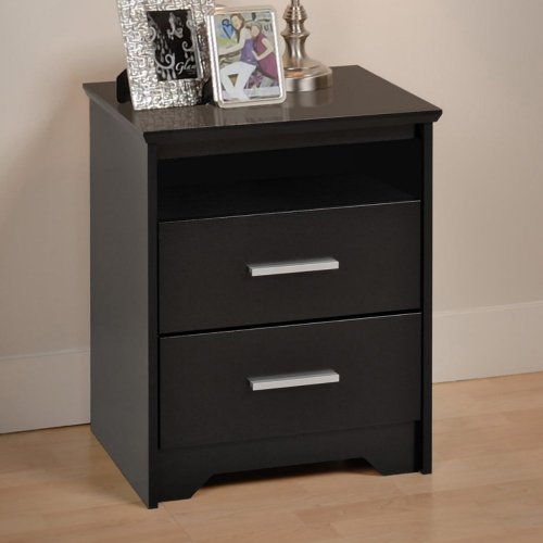 Bedside Table With Drawers 8608 front