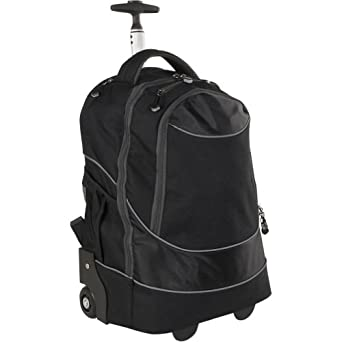 Traveler's Choice Rolling Computer Backpack (Black)