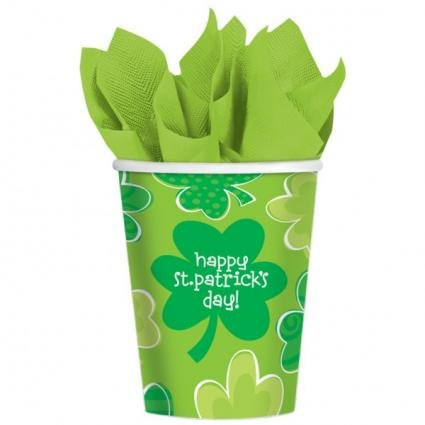 Amscan Playful Shamrocks 9 Oz. Cups