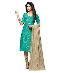 Varanga Sea Green Embroidered Dress Material with Matching Dupatta KF6MGC6002