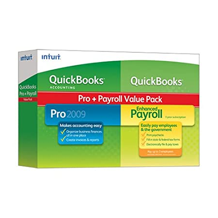 QuickBooks Pro 2009 With Enhanced Payroll Up To 3 Employees 2009 [OLD VERSION]