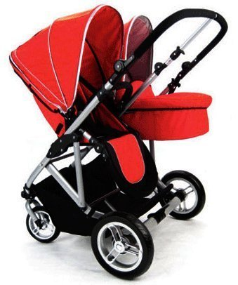 Stroll-Air-My-Duo-Twin-Stroller-WITH-Bassinett-Red-by-StrollAir