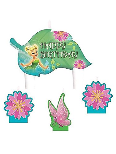 Amscan Tinker Bell Best Friends Fairies Birthday Candle Set, Multicolor