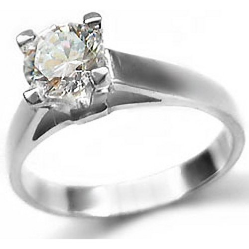 Sterling Silver Ring  Diamond Cut Cubic Zirconia