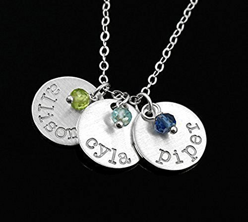 Mom Gift . Personalized Name and Birthstone Necklace . Sterling Silver . Your Children's Names . Custom Jewelry . Great Gifts for Mom or Grandma . ALSO IN 14K GOLD