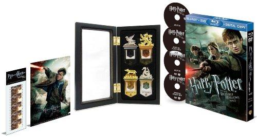 【Amazon.co.jp限定】 ハリー・ポッターと死の秘宝 PART2 ブルーレイ & DVDセット スペシャル・エディション(4枚組)+ホグワーツブックマーク〈木製ケース入り〉セット[完全数量限定]