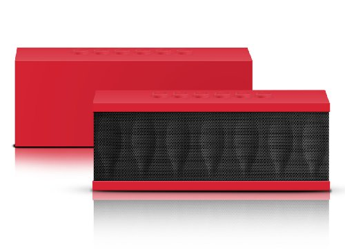 Photive Cyren Portable Wireless Bluetooth Speaker With Built In Speakerphone 8 Hour Rechargeable Battery - Red