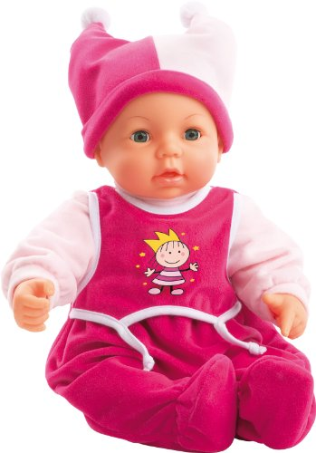 18inch Hello Baby Doll In Deluxe Princess Dress (pink) By Bayer Design