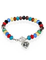 M&S Collection Multi-Faceted Diamanté T-Bar Bracelet