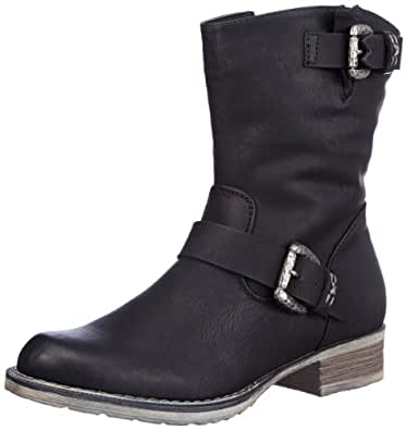 Rieker 95862-00, Damen Halbschaft Stiefel, Schwarz (schwarz / 00), 36 EU (3.5 Damen UK)