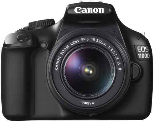 Canon EOS 1100D SLR-Digitalkamera (12 Megapixel, 6,9 cm (2,7 Zoll) Display, HD-Ready, Live-View) Kit inkl. EF-S 18-55mm 1:3,5-5,6 IS II