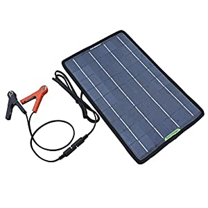 ECO-WORTHY 12 Volts 10 Watts Portable Power Solar Panel Battery Charger Backup for Car Boat with Alligator Clip Adapter from ECO-WORTHY