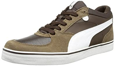 Puma Skate Vulc 354604 Herren Sneaker, Braun (demitasse brown-white-teak 07), EU 36 (UK 3.5) (US 4.5)