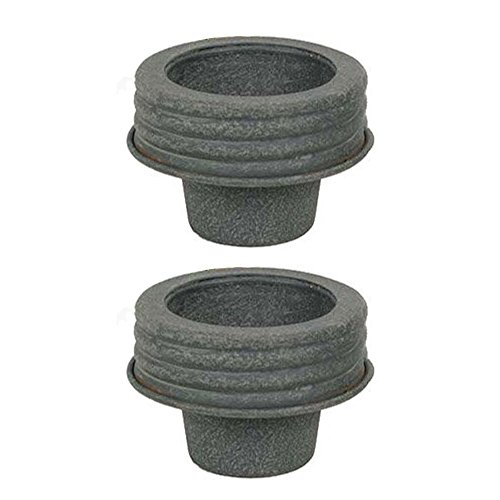 Colonial Tin Works Set of 2 Mason Jar Lids - Taper Lid. 3 Inches in Diameter by 2 Inches Tall (Mason Jars With Lids Set Of 2 compare prices)