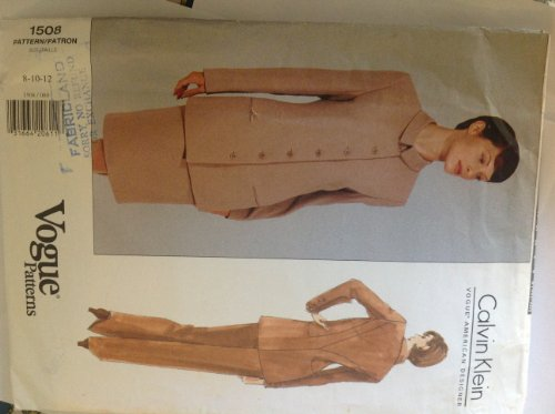 Vogue Calvin Klein Sewing Pattern 1508 Lined