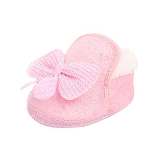 Scarpine Neonata,Xinantime Inverno Pattini Infantili Walking Bambino Morbida Boots (12, Rosa)