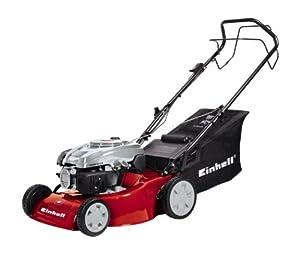 Einhell Benzin-Rasenmäher GH-PM 46/1 S, 2 kW, 46cm Schnittbreite, 5-fache Schnitthöhenverstellung, 60l Fangsack, Hinterradantrieb