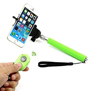 Go Crazzy Monopod Extendable Selfie Handheld Stick With Adjustable Phone Holder And Bluetooth Wireless Remote Shutter For Huawei Ascend P1