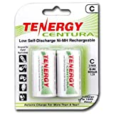Tenergy Centura C Size Low Self-Discharge (LSD) NiMH Rechargeable Batteries, 1 Card 2xC