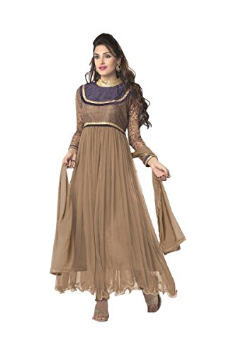 Suitsvilla Brown Latest Frock Style Anarkali Suits