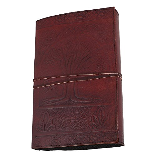 Ancient Tree of Life Embossed Leather Journal gift for him her