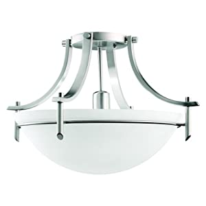 Kitchen Ceiling Lighting Ideas on Lighting 3678ap 1 Light Olympia Incandescent Semi Flush Mount Ceiling