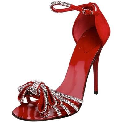 Giuseppe Zanotti Women's I00163 Ankle-Strap Sandal,Cam Fiamma,36 M EU / 6 B(M) US