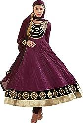 Jinaam Dress Women Brasso & Net Dress Material (Jd-3015B _Purple _30)