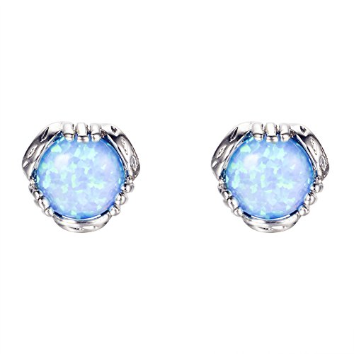 Bamos-Jewelry-76MM-White-Gold-Blue-Fire-Opal-Best-Friend-Wedding-Earrings-Studs-for-Womens-and-Girls