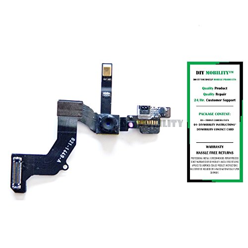 iPhone 5 Replacement Front Face 1.2MP Camera with Proximity Light Sensor Motion Flex Cable - DIYMOBILITY (Iphone 4 Replacement Camera Front compare prices)