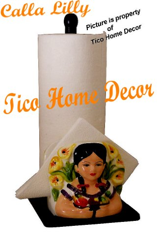 Calla Lilly Country Kitchen Napkin & Paper Towel Holder
