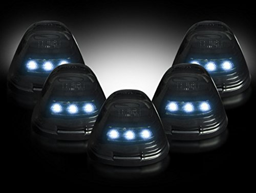 Ford 99-15 Superduty (5-Piece Set) Smoked Lens with White LED's - Complete Cab Light Kit with all wiring & hardware (Recon Lights Ford F350 compare prices)