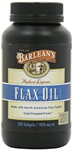 Barlean's Organic Oils High Lignan Flax Oil, 250 Count